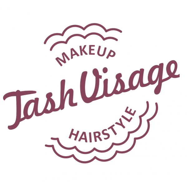 Логотип компании Tash Visage школа-студия макияжа и причесок